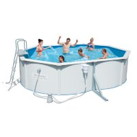 Стальной овальный бассейн Hydrium Oval Pool Set 500х360х120см, 16296л, фил-насос 3028л/ч, лест,подст